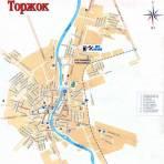 Карта Торжока (Тверская область)