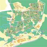 Карта города Сосновый Бор