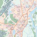 Карта города Якутск