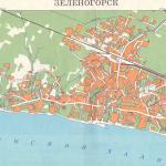 Карта города Зеленогорск