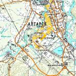 Карта города Ангарск