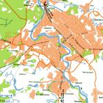 Карта города Боровичи