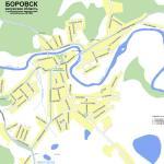 Карта города Боровск