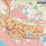 Карта города Дудинка