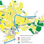 Карта города Елец