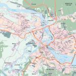 Карта города Иркутск