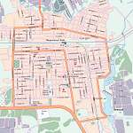 Карта города Кисловодск