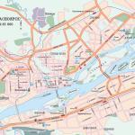 Карта города Красноярск