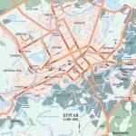 Карта города Курган