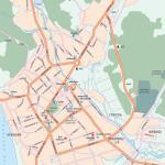 Карта города Магадан