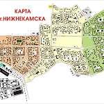 Карта города Нижнекамск
