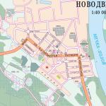 Карта города Новодвинск