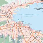 Карта города Новороссийск