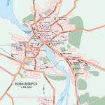 Карта города Новосибирска
