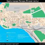 Карта города Печора