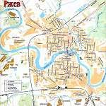 Карта города Ржев