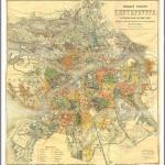 Старинная карта г. Санкт-Петербург