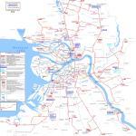 Карта маршрутов трамвая г. Санкт-Петербург