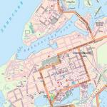Карта города Северодвинск