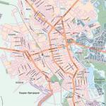 Карта города Тамбов