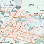Карта города Тюмень