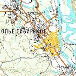 Карта города Усолье-Сибирское
