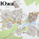 Карта города Южа