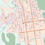 Карта города Южно-Сахалинск