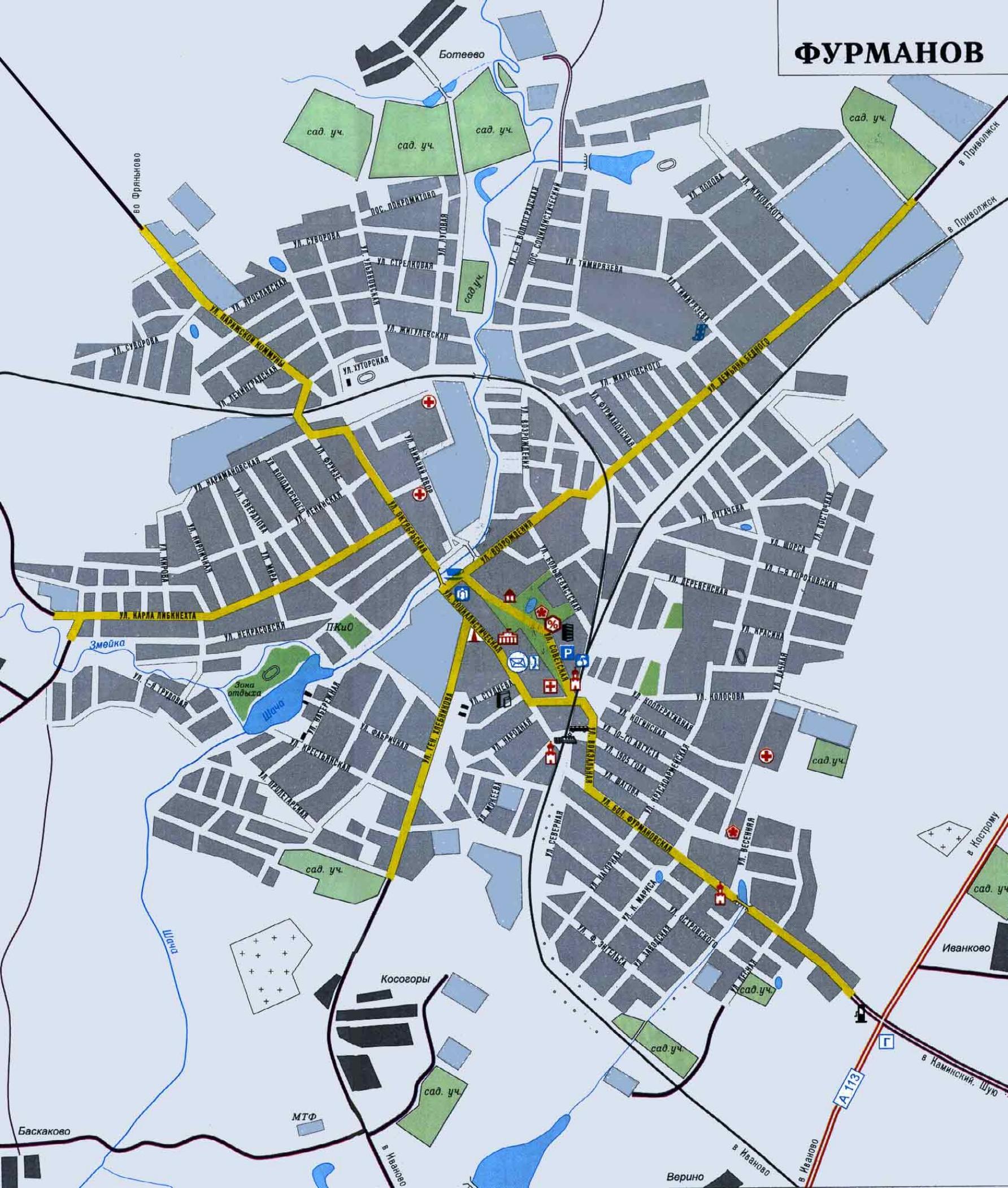 Карта города Фурманов - Карты городов России: http://maps.at.ua/blog/card_of_city_of_furmanov/2009-07-04-307