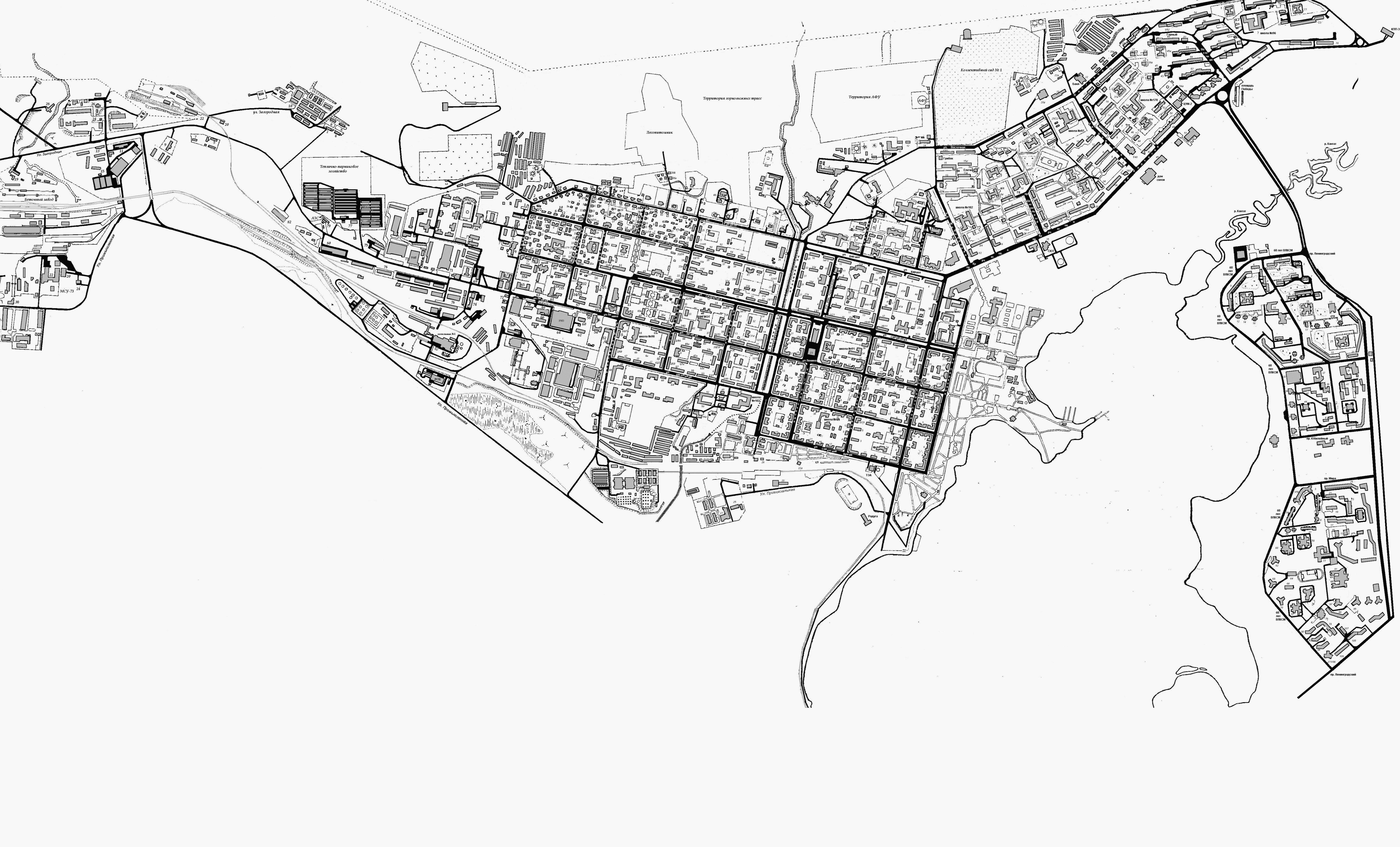 Карта Города Зеленогорска Красноярского Края Со Спутника