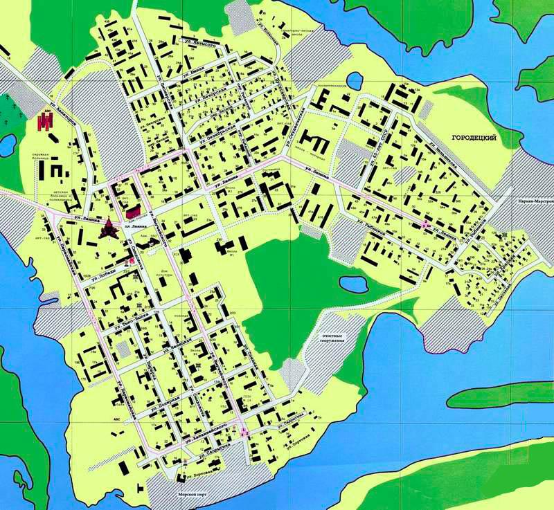 Карта ВОЛОГДЫ с улицами и