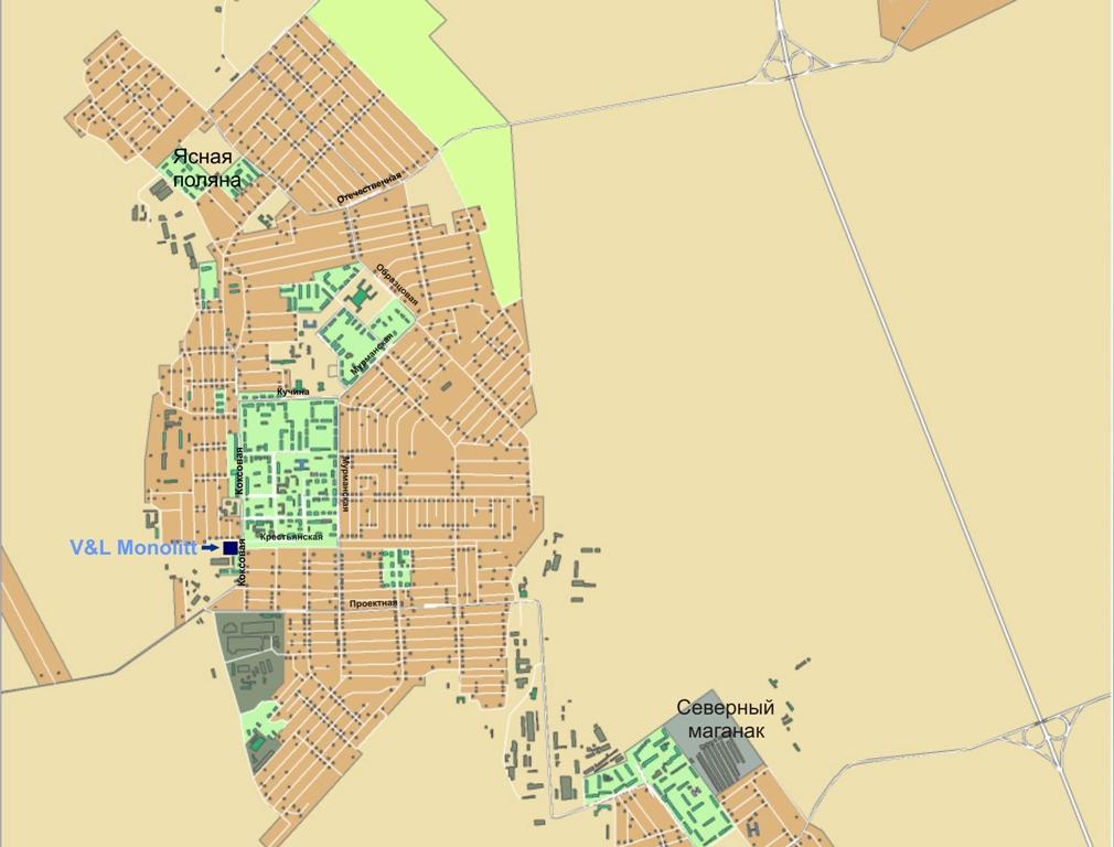 Карта города Прокопьевск