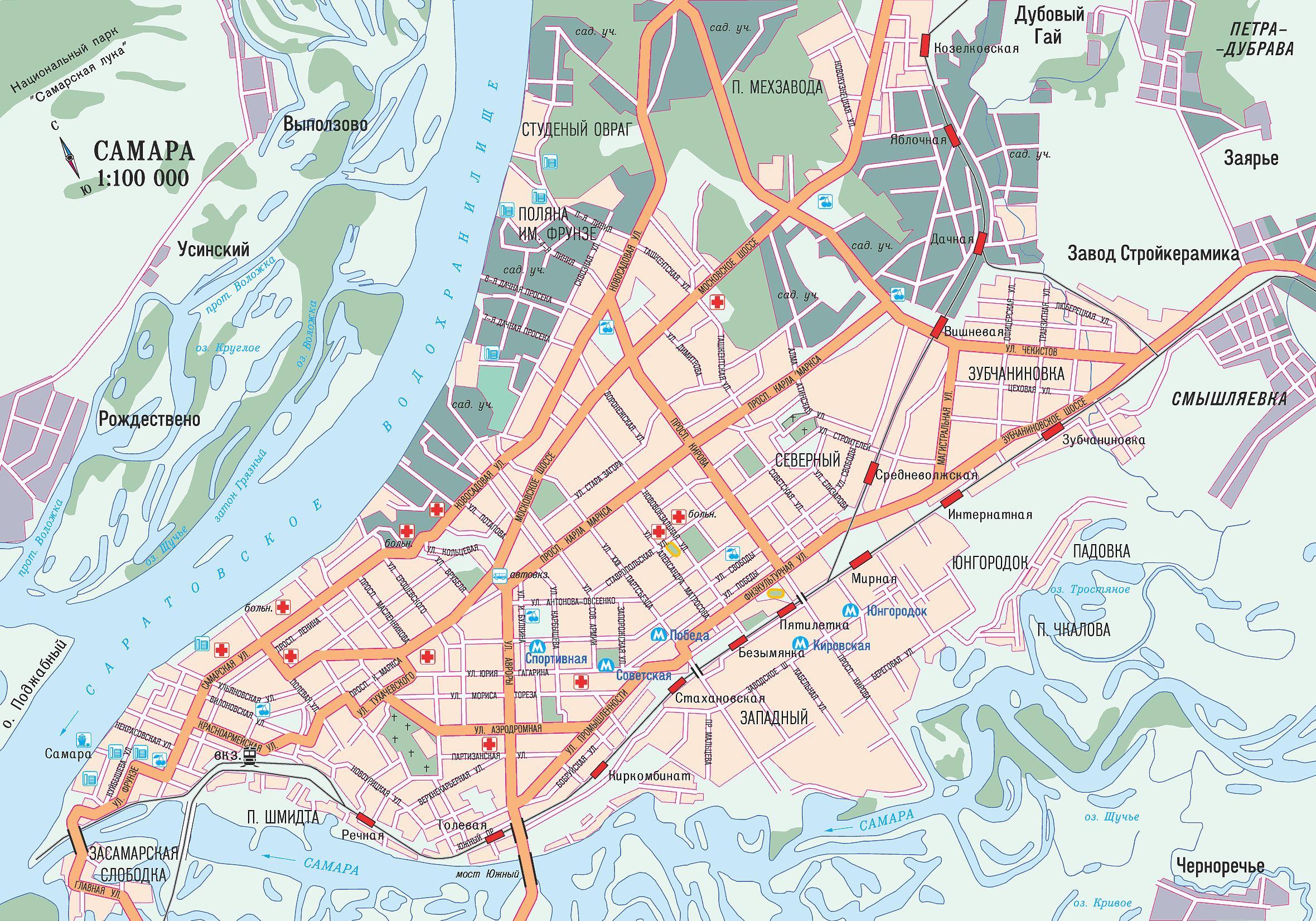 Карта города Самара - Карты городов России: http://maps.at.ua/blog/card_of_city_samara/2009-06-05-154