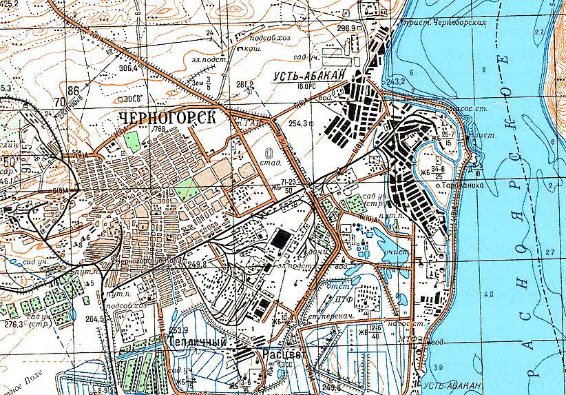 Карта города Черногорск
