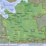 Карта Архангельская обл
