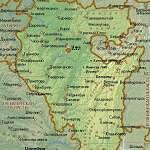 Карта Башкирия