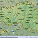 Карта Белгородская обл