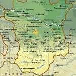 Карта Чечня