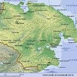 Карта Чукотский АО