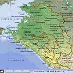 Карта Краснодарский край