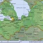 Карта Ленинградская обл