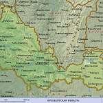 Карта Оренбургская обл