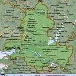 Карта Ростовская обл