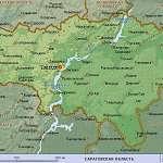 Карта Саратовская обл
