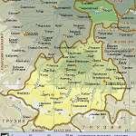 Географическая карта северной осетии