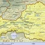 Карта Тува