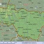 Карта Владимирская обл