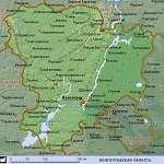 Карта Волгоградская обл