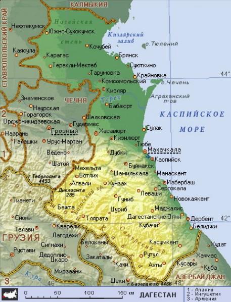Россия снова отдала часть территории Дагестана Азербайджану, сообщает
