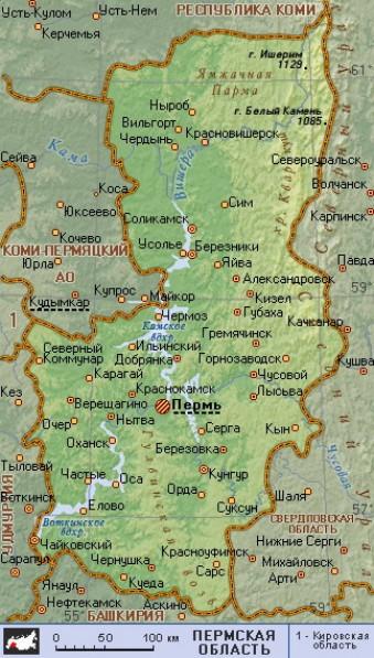 Карта пермского района со спутника